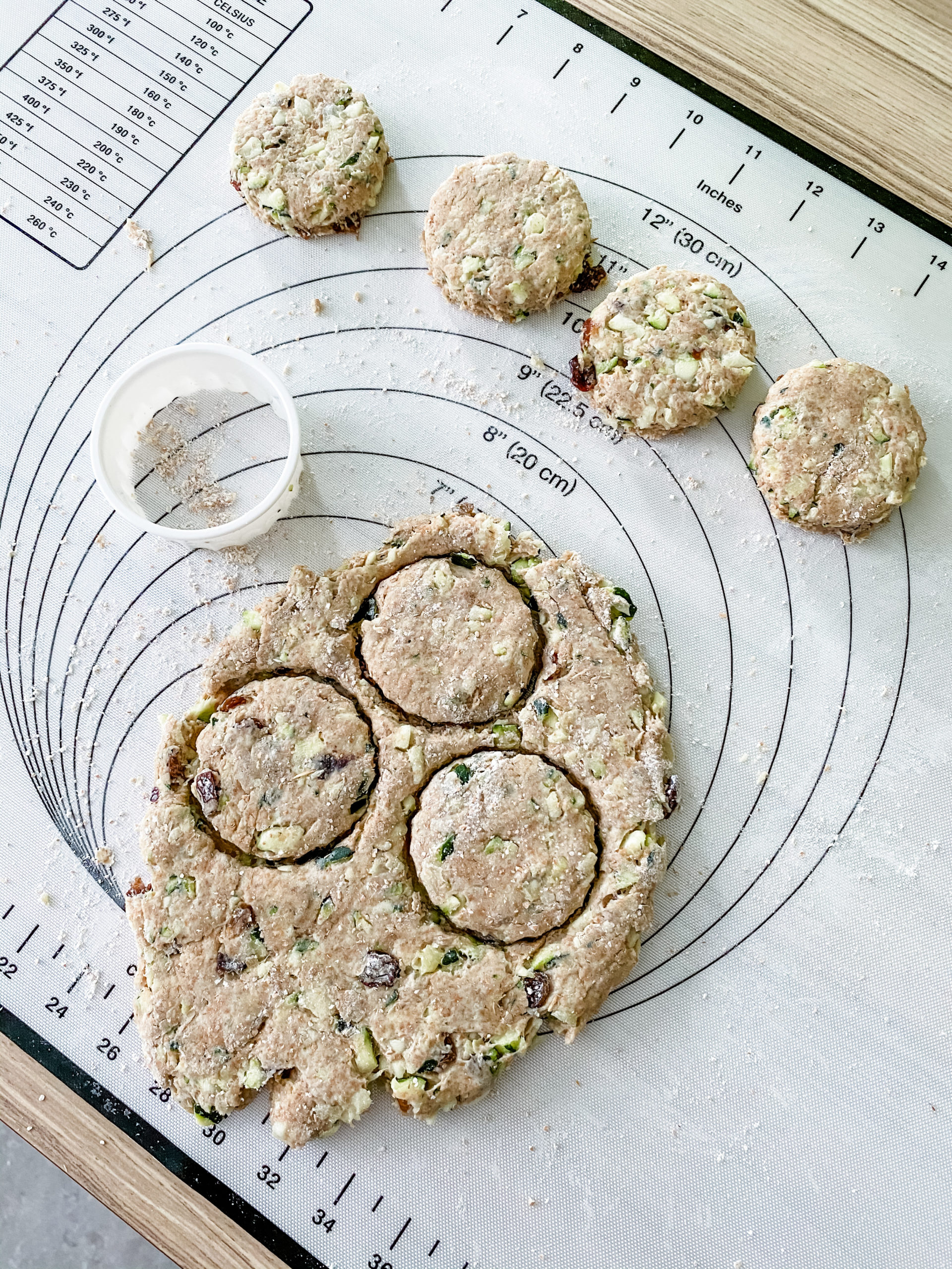 courgette and fruits scones